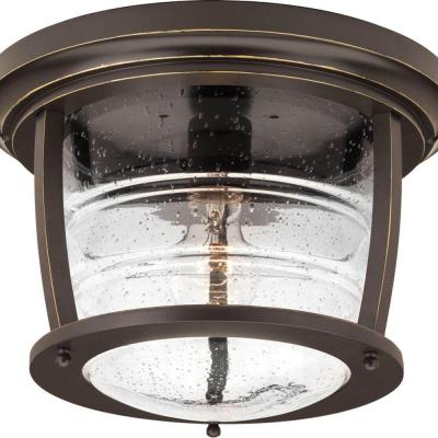 Signal Bay Collection 1-Light Oil-Rubbed Bronze Outdoor Flushmount