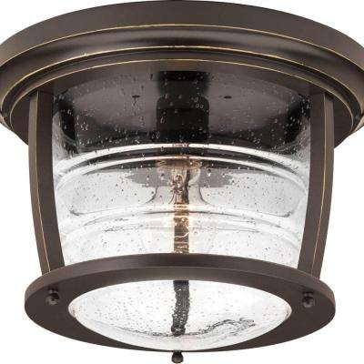 Signal Bay Collection 1 Light Oil Rubbed Bronze Outdoor Flushmount