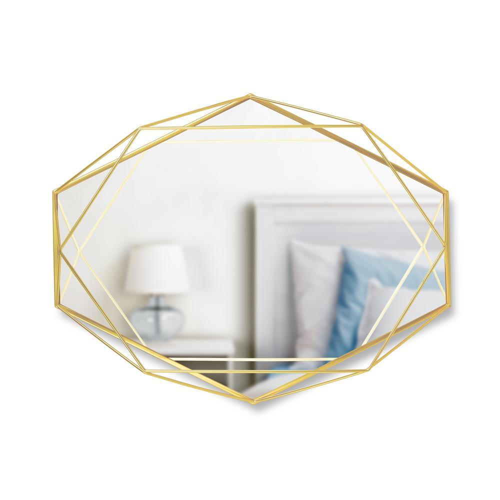 Prisma Mirror Clear Brass (22.38 in. H 17 in. W )