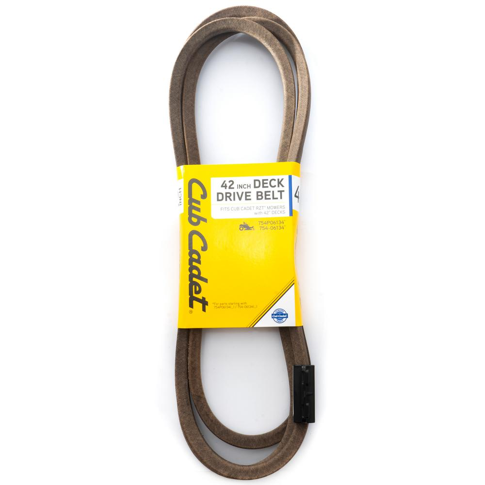 Cub Cadet 42 in. Deck Drive Belt for Cub Cadet RZT Lawn Mowers with 42 in. Decks Replaces OE 754P06134 and 754-06134