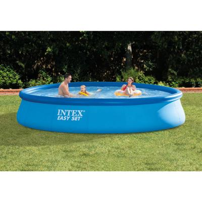 15 ft. x 33 in. Round Above Ground Swimming Pool, Filter Pump and Vinyl Solar Cover
