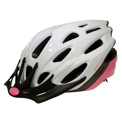 White/Pink In-Mold Helmet in Size M (54-58 cm)