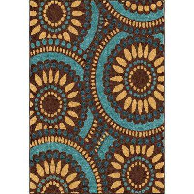 Pinwheel Blue 7 ft. 8 in. x 10 ft. 10 in. Indoor Area Rug