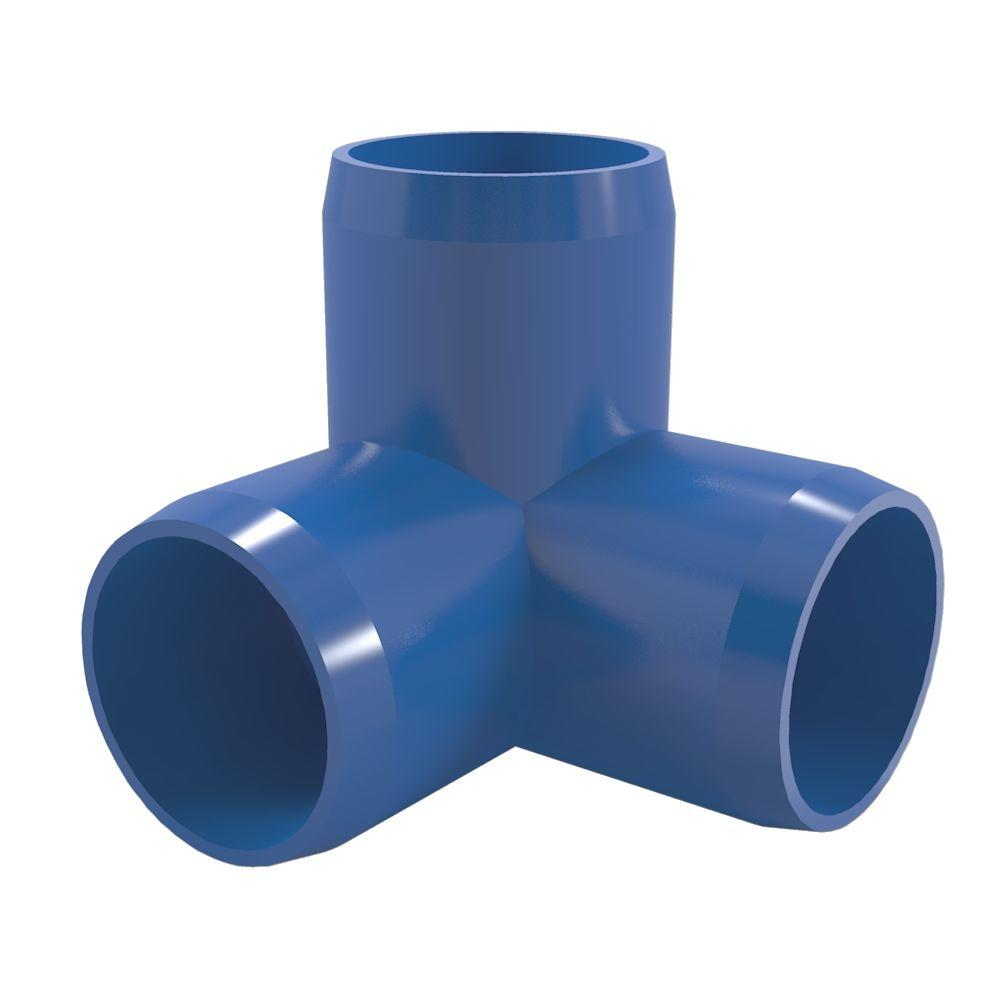 1-1/4 in. Furniture Grade PVC 3-Way Elbow in Blue (4-Pack)