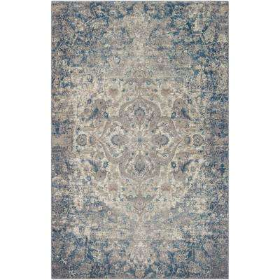 Diavonna Navy 2 ft. x 3 ft. Area Rug
