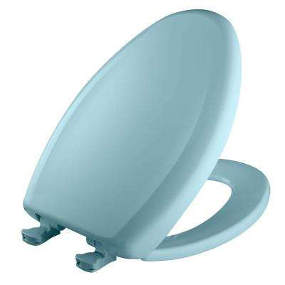 Slow Close STA-TITE Elongated Closed Front Toilet Seat in Dresden Blue