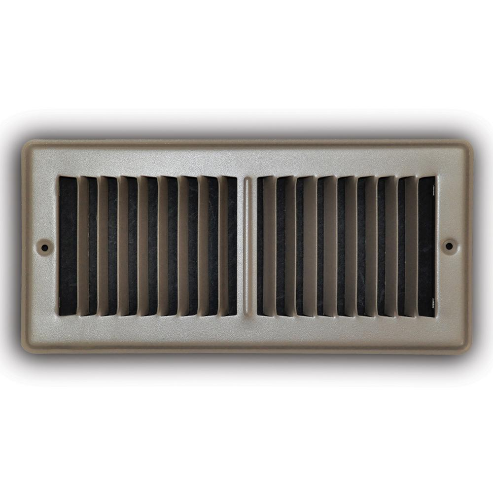 """*D/&W FLOOR GRILLE 4/"""" X 10/"""" BROWN 7840DB SET OF FOUR"""