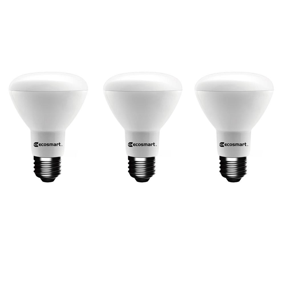 50-Watt Equivalent BR20 Dimmable LED Light Bulb, Soft White (3-Pack)