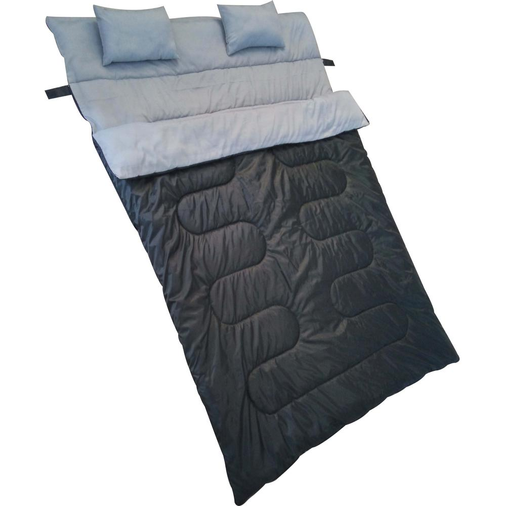 Waterproof Cool Weather Double Sleeping Bag in Black