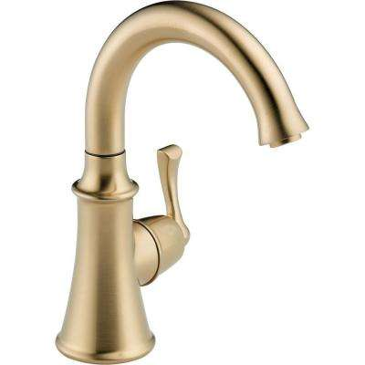 Traditional Single-Handle Water Dispenser Faucet in Champagne Bronze