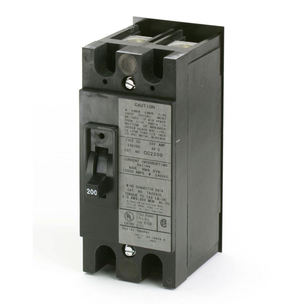 Eaton 200 Amp 2-3/4 in. Double Pole CC Type Breaker