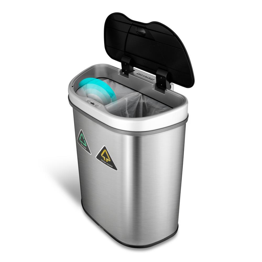 Merveilleux 18.5 Gal. Motion Sensor Auto Open Recycling Bin