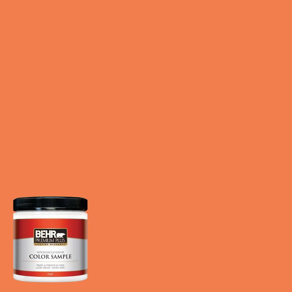 BEHR Premium Plus 8 oz. #220B-6 Harvest Pumpkin Interior/Exterior Paint Sample
