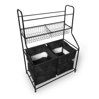 48.62 in. x 32.09 in. x 17.75 in. Metal Sport Storage organizer in Black