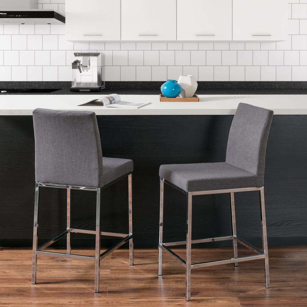 CorLiving Huntington 25 in Grey Fabric Cushioned Bar  : grey corliving bar stools ddf 164 b 641000 from www.homedepot.com size 1000 x 1000 jpeg 92kB