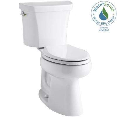 Highline 2-piece 1.1 or 1.6 GPF Dual Flush Elongated Toilet in White