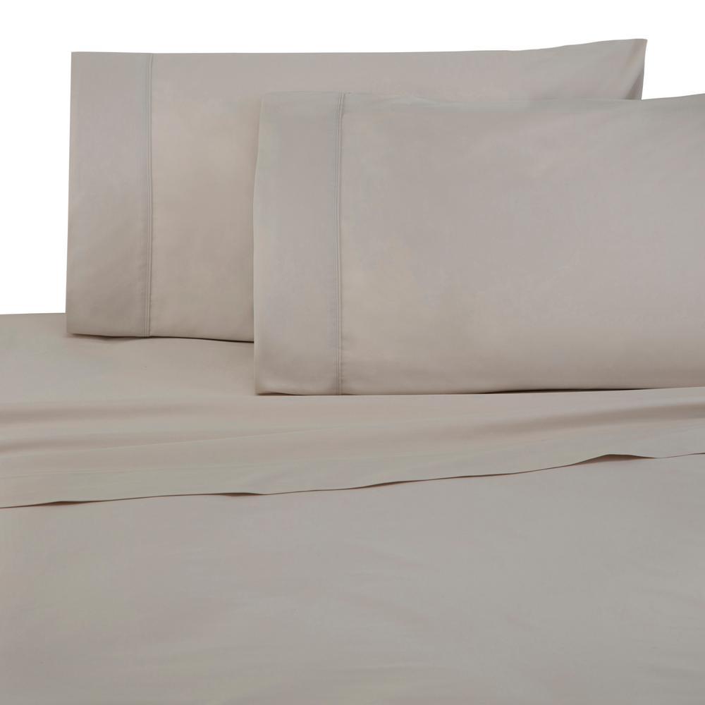 Brushed Organic 4-Piece Canvas King Sheet Set