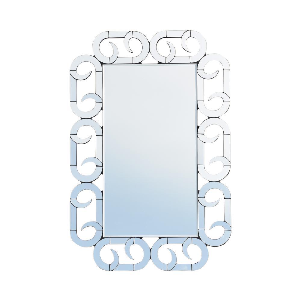 Willandra Modern Glam Rectangular Wall Mirror