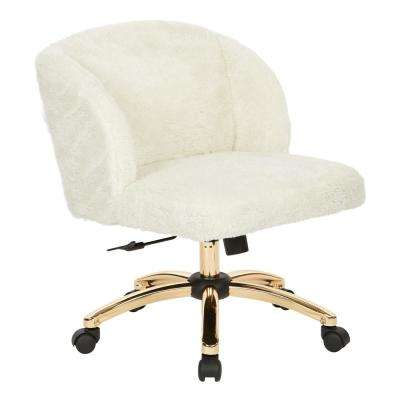 Ellen Cream Fabric Office Chair