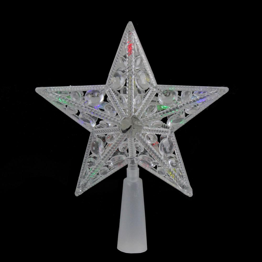 Northlight 6 in. Clear Crystal Jeweled Star LED Christmas ...