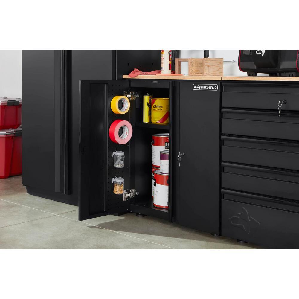 Heavy Duty Welded 28 in. W x33 in. H x 21.5 in. D20-Gauge Free Standing2-Door Steel Garage Base Cabinet