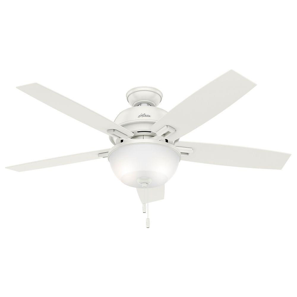 Donegan 52 in. LED Indoor Fresh White Ceiling Fan with Light