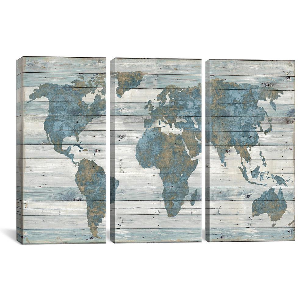 Canvas World Map on