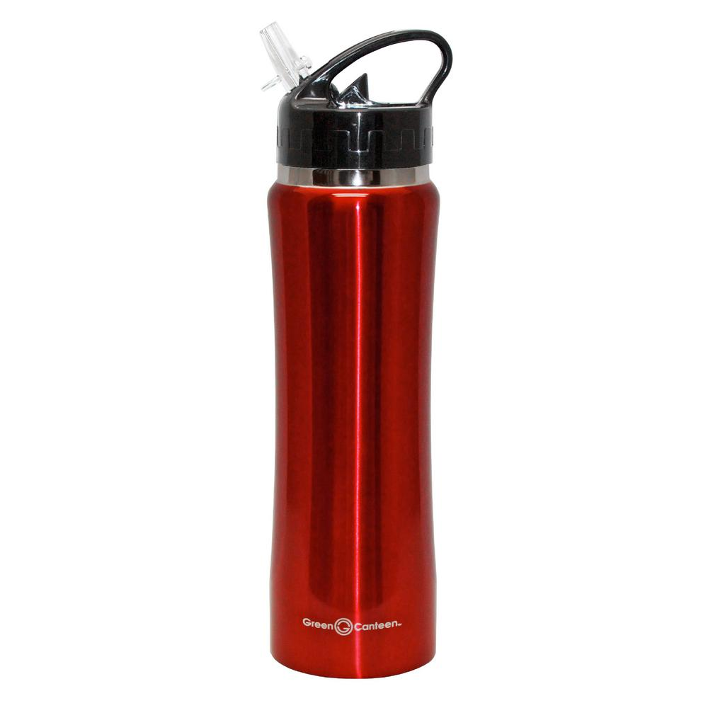 25 oz. Red Stainless Steel Double Wall Thermal Vacuum Bottle (6-Pack)