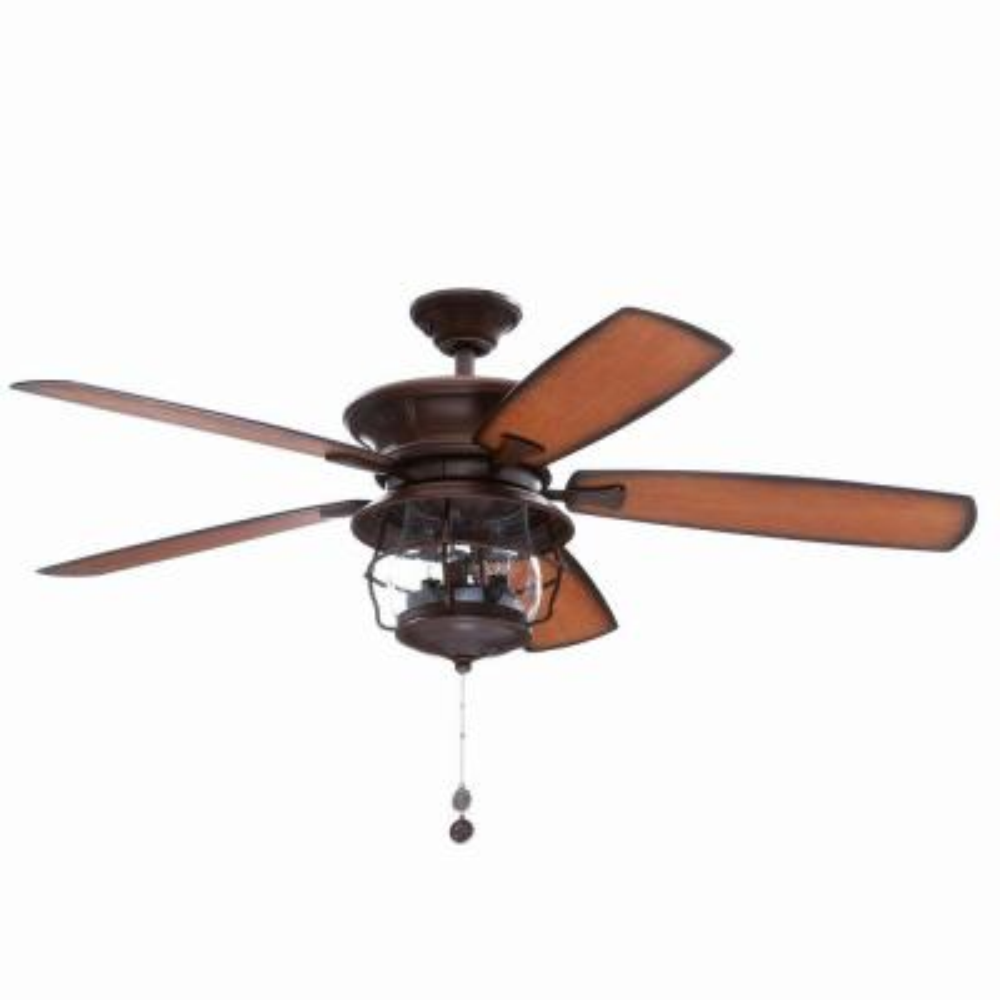 Brentford 52 in. Indoor/Outdoor Aged Walnut Finish Ceiling Fan