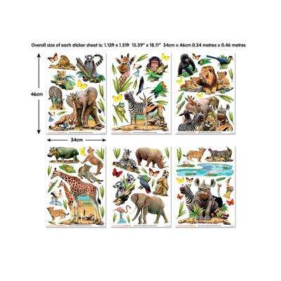 Multi-Colored Jungle Safari Wall Decals