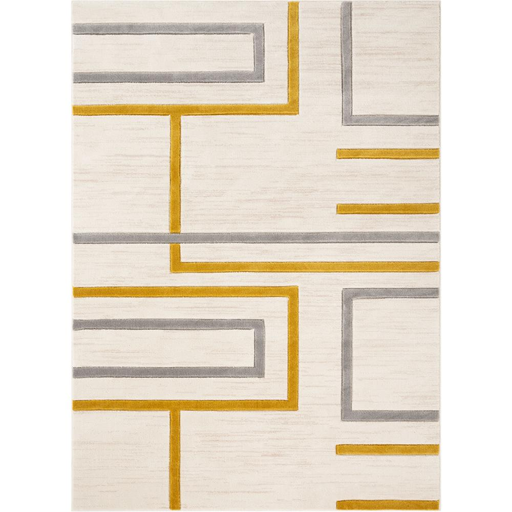 Well Woven Good Vibes Fiona Gold Modern Geometric Lines 7 Ft 10 In X 9 Ft 10 In Area Rug Gv 91 7 The Home Depot