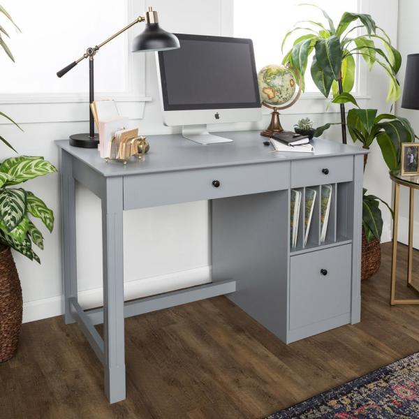Home Furniture Company: Walker Edison Furniture Company Home Office Deluxe Grey