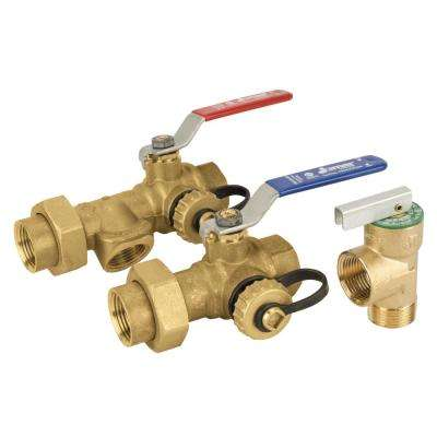 3/4 in. Threaded Lead Free Tankless Water Heater Valve Kit