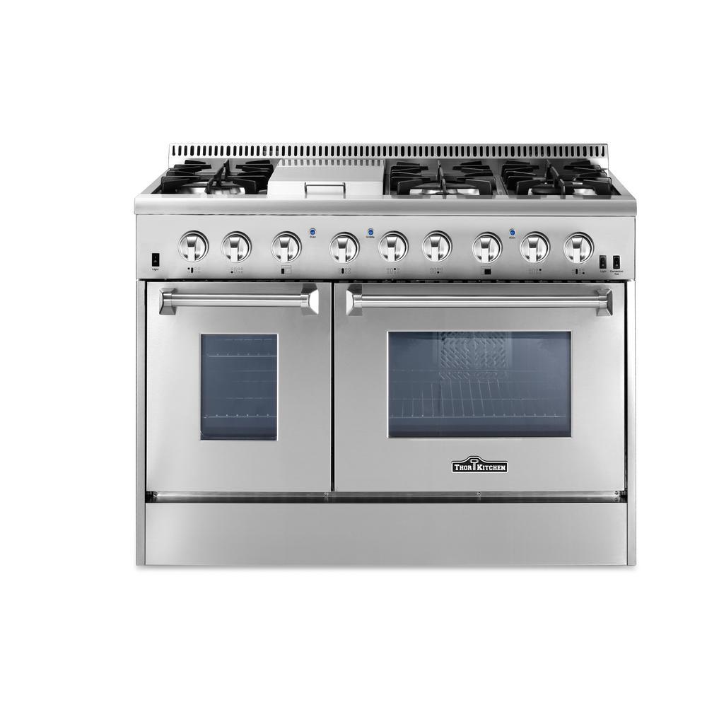 Thor Kitchen 48 In. 6.7 Cu. Ft. Dual Fuel Range In