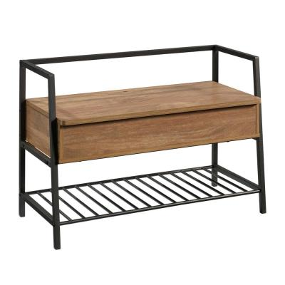 North Avenue Medium Brown Sindoori Mango Bench 24.094 in. H x 35.433 in. W x 15.512 in. D