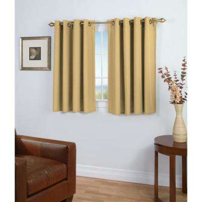 Glasgow 56 in. W x 54 in. L Woven Grommet Top Short Panel in Gold Leaf