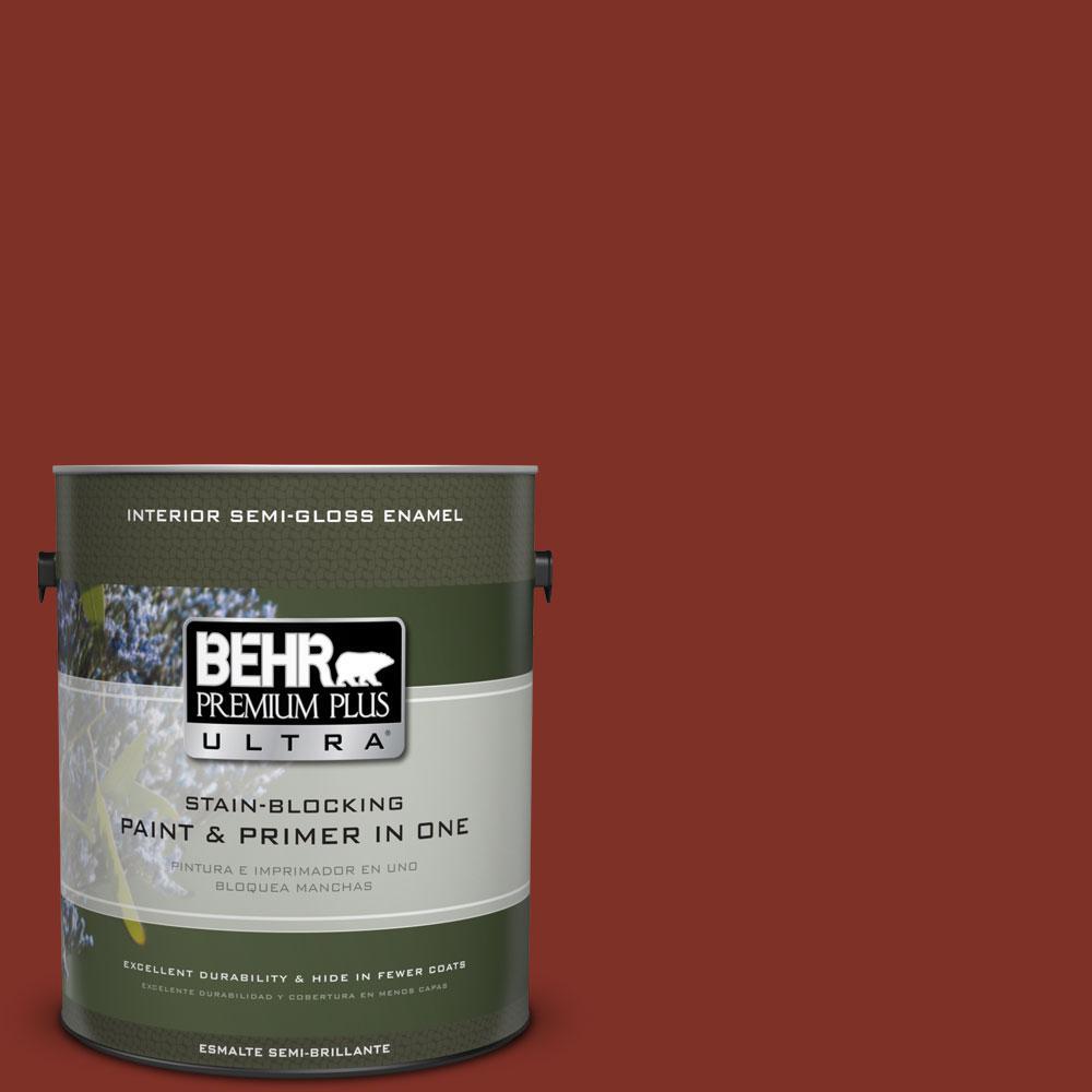 1-gal. #ECC-46-3 Red Hawk Semi-Gloss Enamel Interior Paint