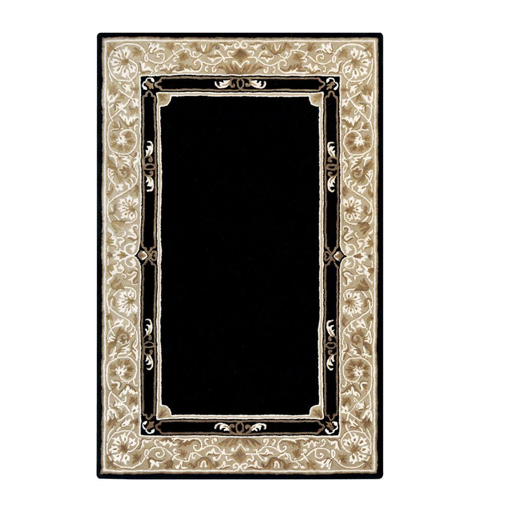 Home Decorators Collection Churchill Black 5 ft. 3 in. x 8 ft. 3 in. Area Rug