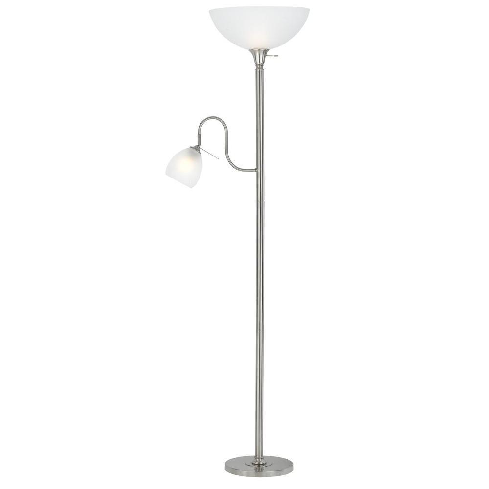 Filament Design Cooper 70 in. Brushed Steel Floor Lamp
