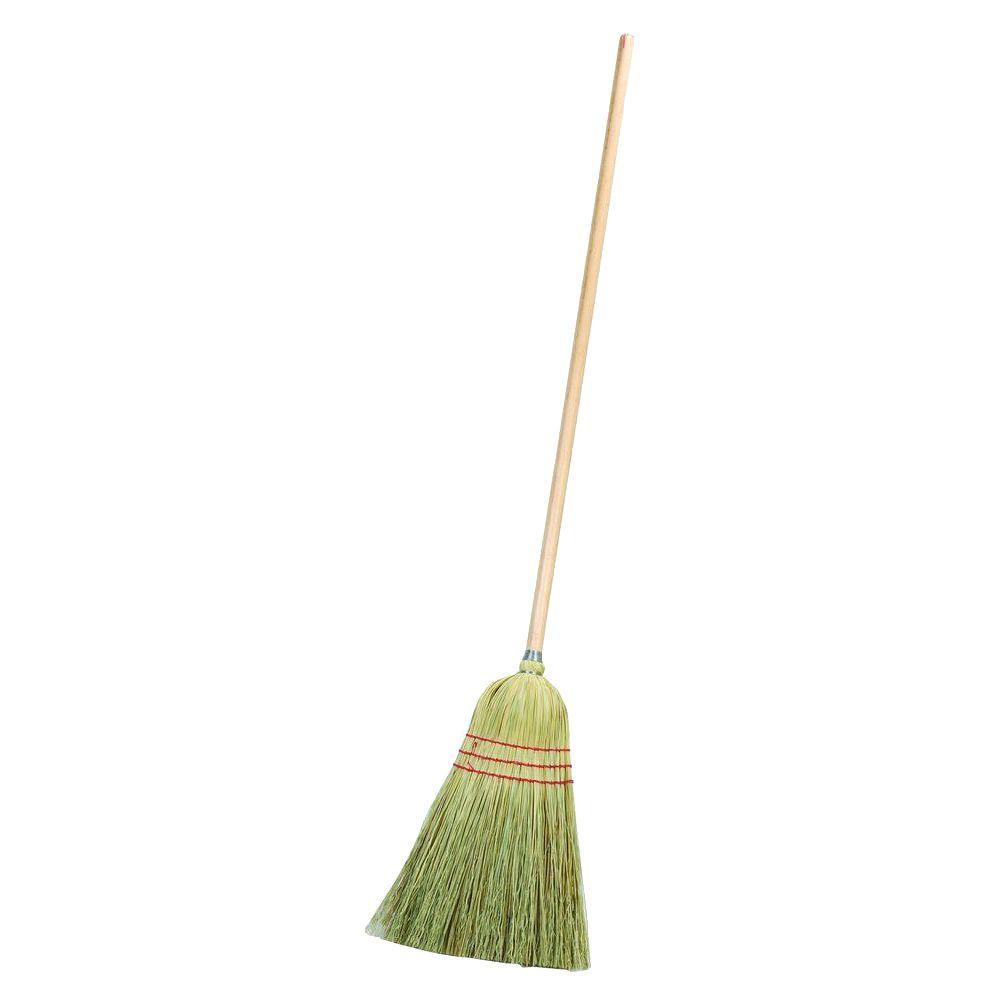 Carlisle 55 in. Warehouse Broom Corn Blend Natural Wood Color Handle (Case of 12)