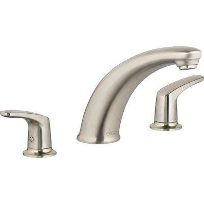 Colony PRO 2-Handle Deck-Mount Roman Tub Faucet for Flash Rough-in Valves in Brushed Nickel