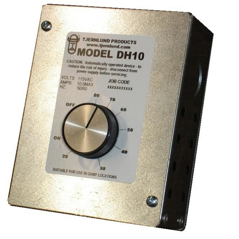 9 in. x 5 in. x 4 in. UnderAire Adjustable Dehumidistat Vent Controller