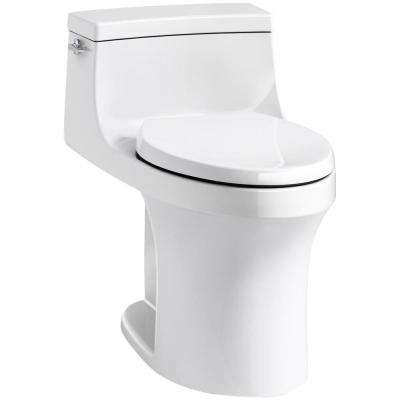 San Souci 1-Piece 1.28 GPF Single Flush Elongated Toilet in White