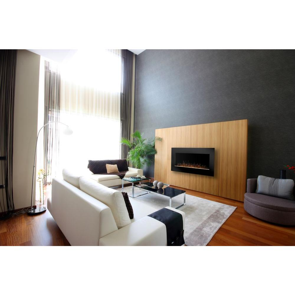 Dimplex Lacey 43 in. Wall-Mount Electric Fireplace in Black