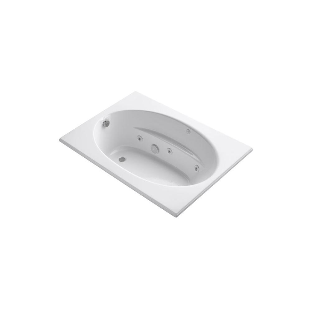 KOHLER Windward 5 ft. Rectangular Drop-in Whirlpool Bathtub in White