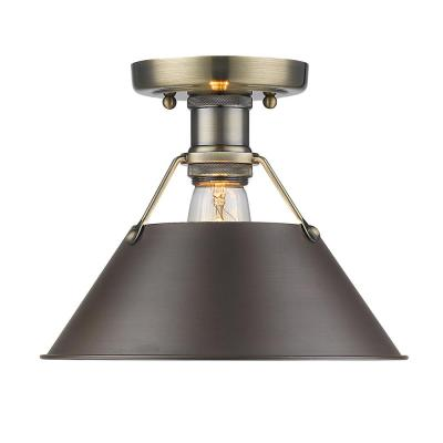Orwell AB 1-Light Aged Brass Flush Mount Light
