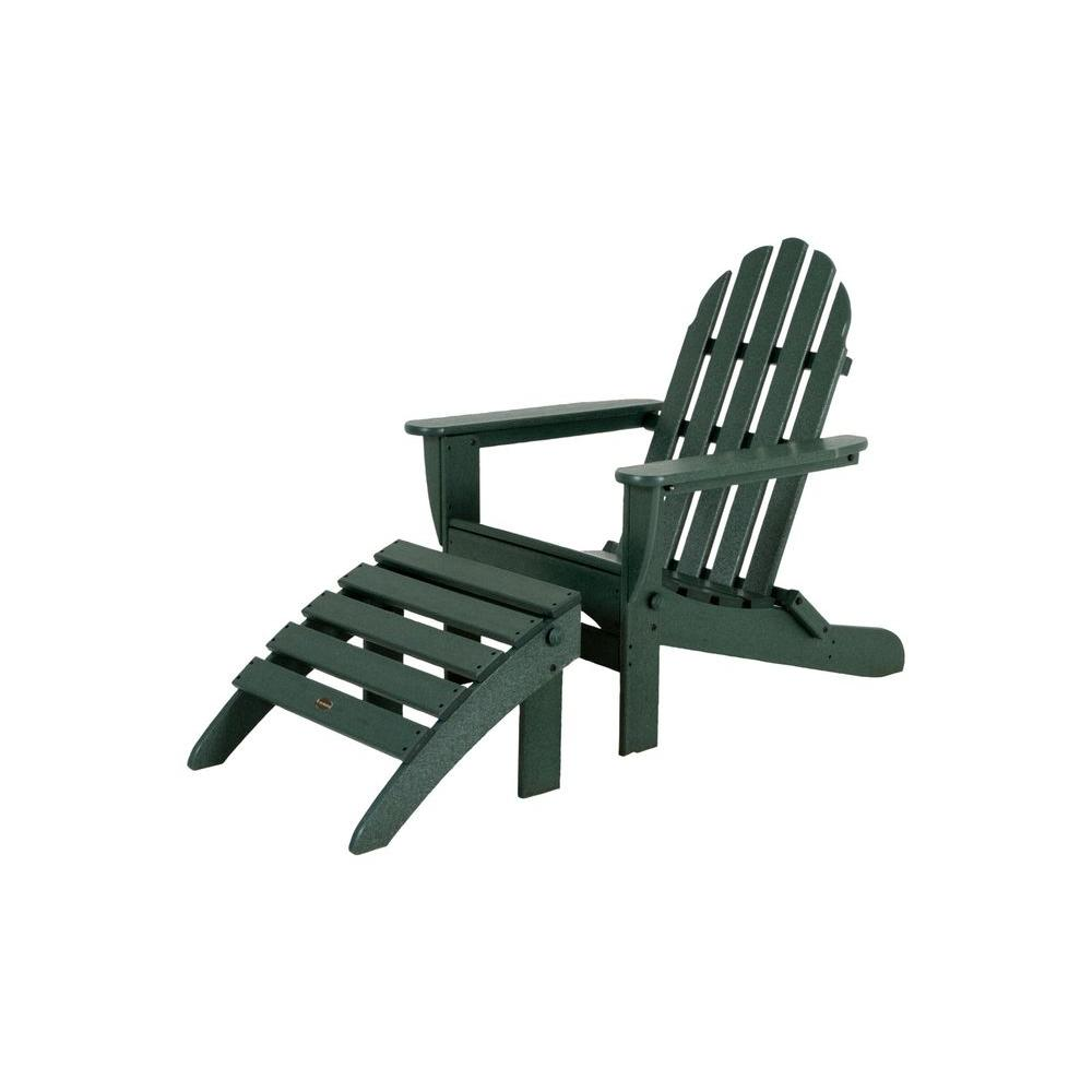 High Quality POLYWOOD Classic Green Plastic Patio Adirondack Chair
