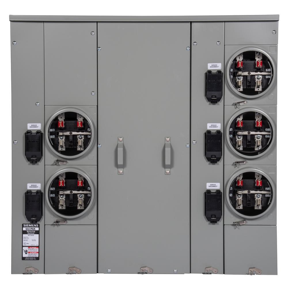 Uni-PAK 5-Gang 600 Amp Ring Style Multi-Family Metering