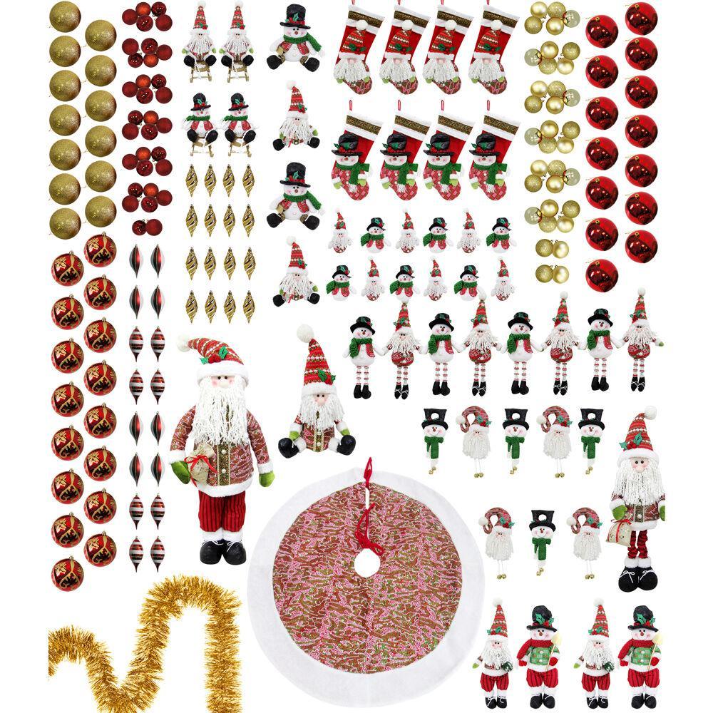 Home for The Holidays Christmas Ornament and Decor Set (196-Piece)