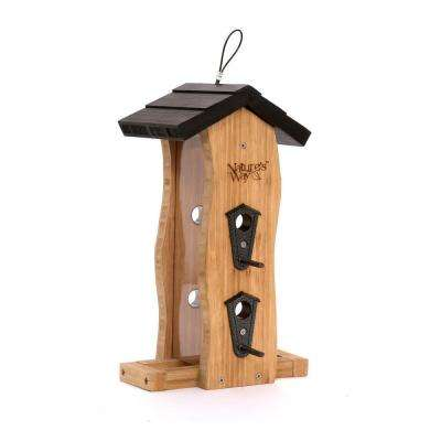 Bamboo Vertical Wave Bird Feeder